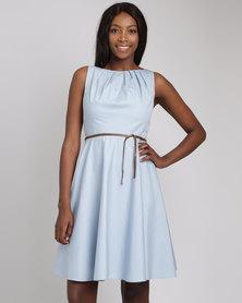 non-european Twist Dress Powder Blue