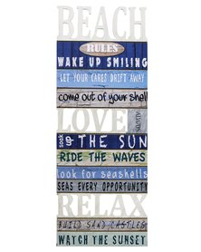 NovelOnline Beach Rules II Wooden Art