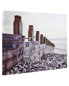 Bicycle On Beach Canvas