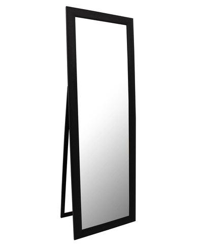 mocha free standing mirror black