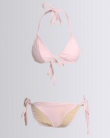 Nude Wear Triangle Bikini Set Dusty Pink