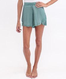 O'Neill Dakota Shorts Green Floral