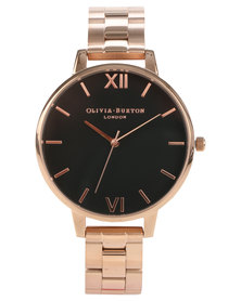 Olivia Burton Big Dial Bracelet Strap Watch Rose Gold