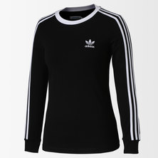 LADIES 3STRIPE LONGSLEEVE TEE