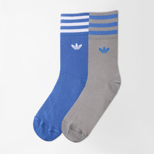 SOLID CREW SOCKS STRIPES 2PP