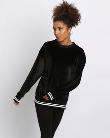 Paige Smith Band Sweater With Detail Black