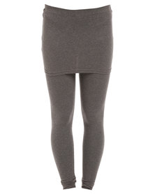 Paige Smith Skirt Legging Grey