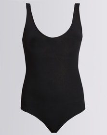 Paige Smith V-Neck Sleeveless Bodysuit Black