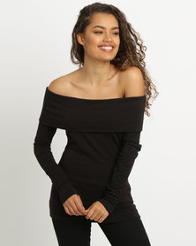 Paige Smith Bandeau Top Black