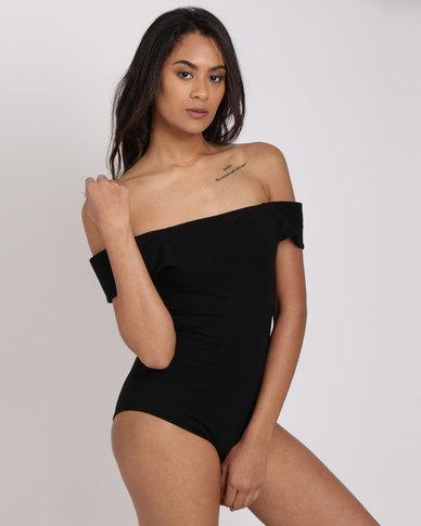 Paige Smith Bandeau Bodysuit Black