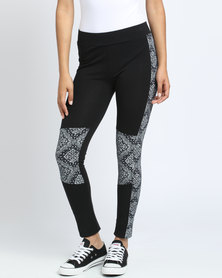 Paige Smith Print Inset Leggings Multi