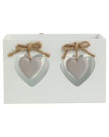 Pamper Hamper Heart Tea Light Holder White