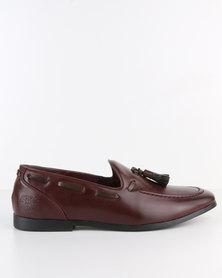 Paul of London Formal Slip On Shoe With Tassels Burgundy
