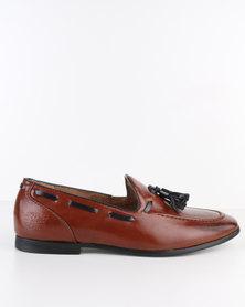 Paul of London Formal Slip On Shoe With Tassels Tan