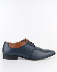 Paul Of London Sleek Formal Lace Up Shoe Navy