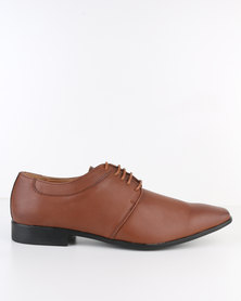 Paul Of London Sleek Formal Lace Up Shoe Tan