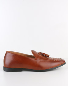 Paul Of London Formal Slip On With Tassel Tan