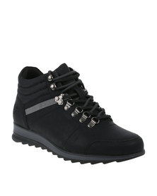 Paul of London Casual Lace Up Boot Black
