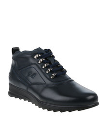 Paul of London Casual Lace Up Ankle Boot Navy