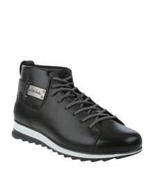 Paul of London Casual Lace Up Boot With Back Buckle Grey