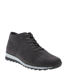 Paul of London Casual Lace Up High Top Sneaker Charcoal