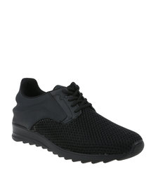 Paul of London Casual Lace Up Low Cit Sneaker Black
