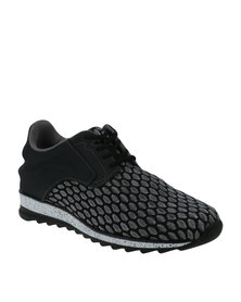 Paul of London Spotty Casual Lace Up Low Cit Sneaker Black