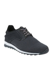 Paul of London Casual Lace Up Low Cit Sneaker Grey