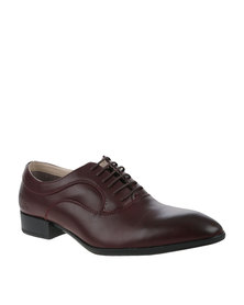Paul of London Formal Lace Up Shoe Burgundy