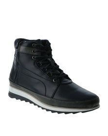 Paul of London Side Zip Contrast Boot Navy