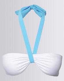 Peg Bikini Tie Long Aqua