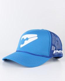 Peg D1 Trucker Cap Bent Peak Dark Blue