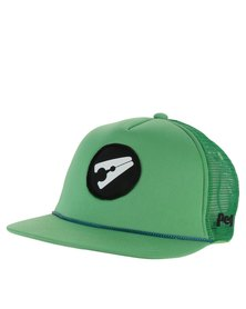 Peg D3 Trucker Cap Flat Peak Green