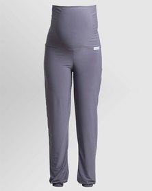 Penelope & Bella Stretchy Maternity Lounge Pants Black & Grey
