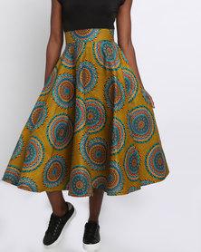 Pengelly Khanya Full Skirt Brown