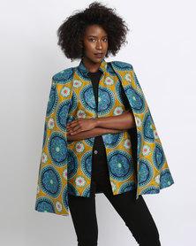 Pengelly Printed Cape Yellow