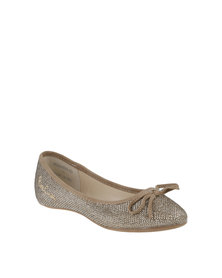 Pierre Cardin Girls Pumps With Bow Detail Gold