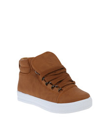 Pierre Cardin Boys Hi-Tops Tan