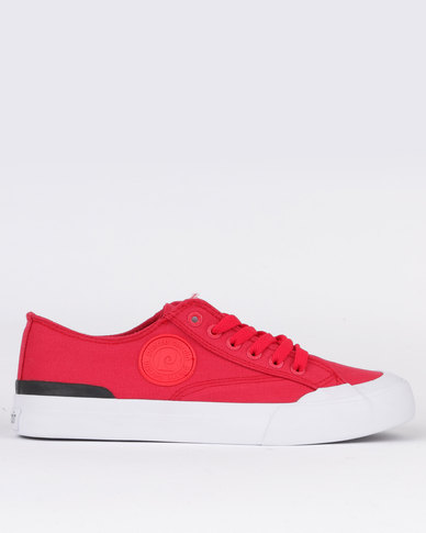 Pierre Cardin Canvas Lace Up Sneaker Red