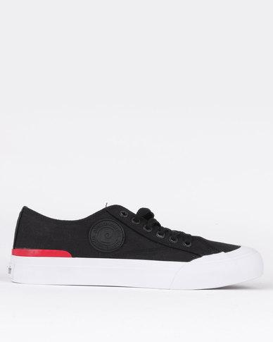 Pierre Cardin Canvas Lace Up Sneaker Black
