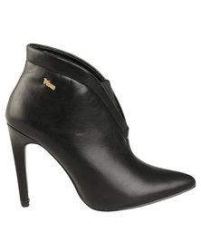 PLUM Newbury Heeled Ankle Boot Black