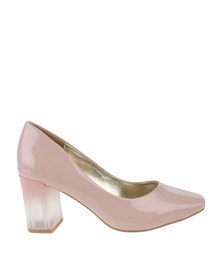 PLUM Fleetwood Heeled Court Shoe Nude