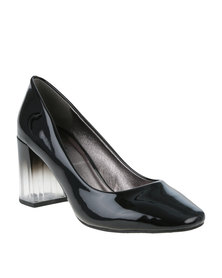 PLUM Fleetwood Heeled Court Shoe Black