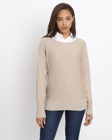 Polo Ladies Maxine LS Boat Neck Pullover Beige