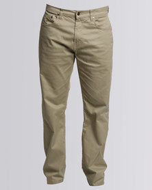Polo Mens Clark Stretch 5 Pocket Chino Khaki