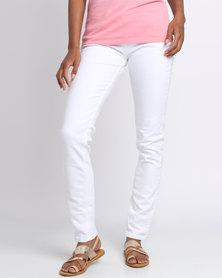 Polo Ladies Ladies Anastasia Skinny Overdyed Jeans White