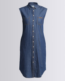 Polo Ladies Nina SS Denim Dress Medium Wash