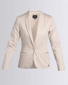 Polo LDS Logan LS One Button Suit Blazer Stone