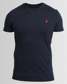 Polo Men's V-Neck T-Shirt Navy