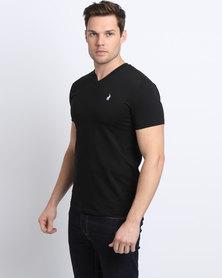 Polo Men's V-Neck T-Shirt Black